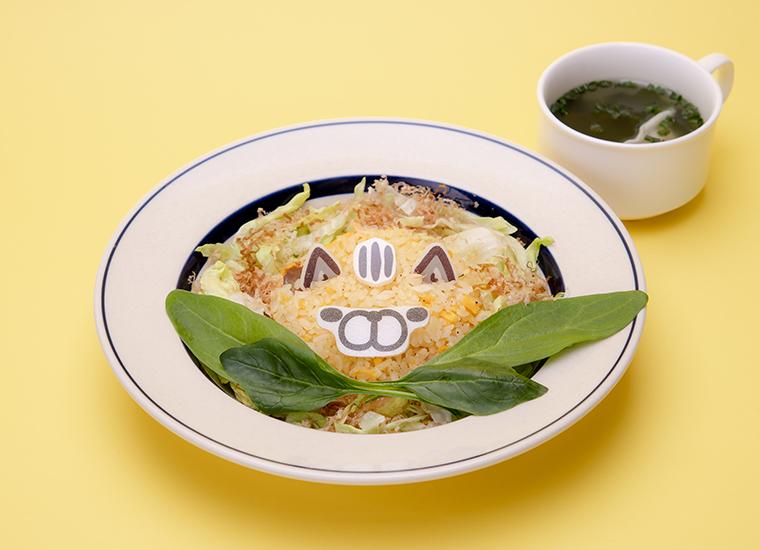 猫の鮭チャーハン (中華スープ付き)