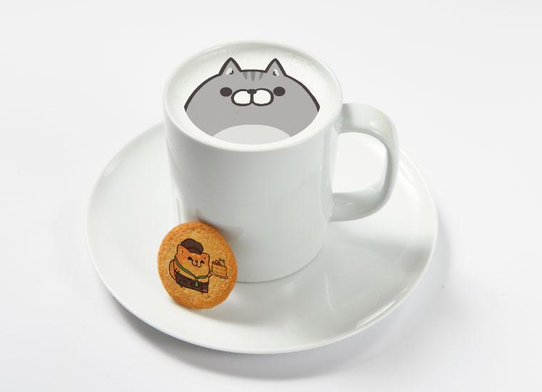 ボンレス猫ホットラテ