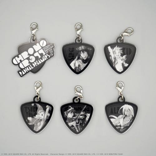 GUITAR PICK KEYCHAIN SET 6picks