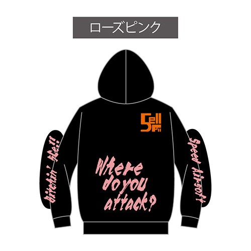hoody-pull over/5Cell ブラック
