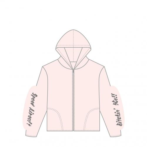 cool hoody-full zip/5Cell ライトピンク
