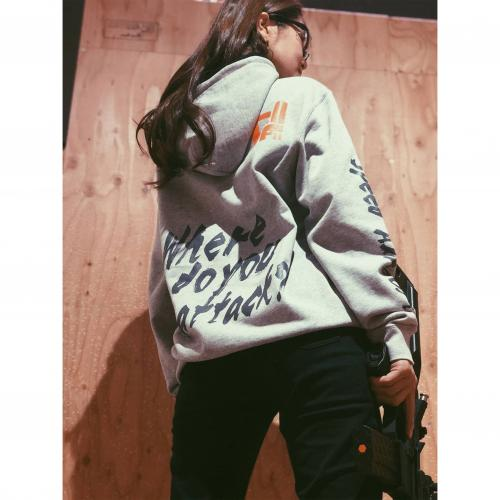 hoody-pull over/5Cell グレー
