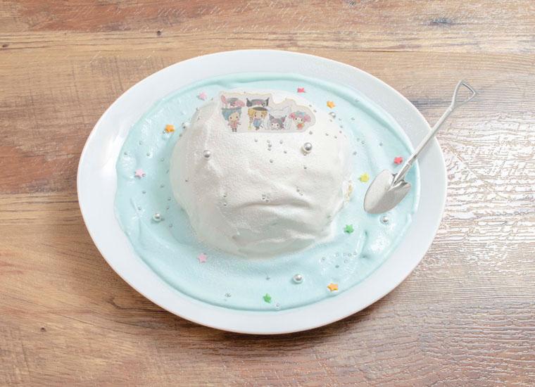 みんなで雪遊び♪ スノードームケーキ