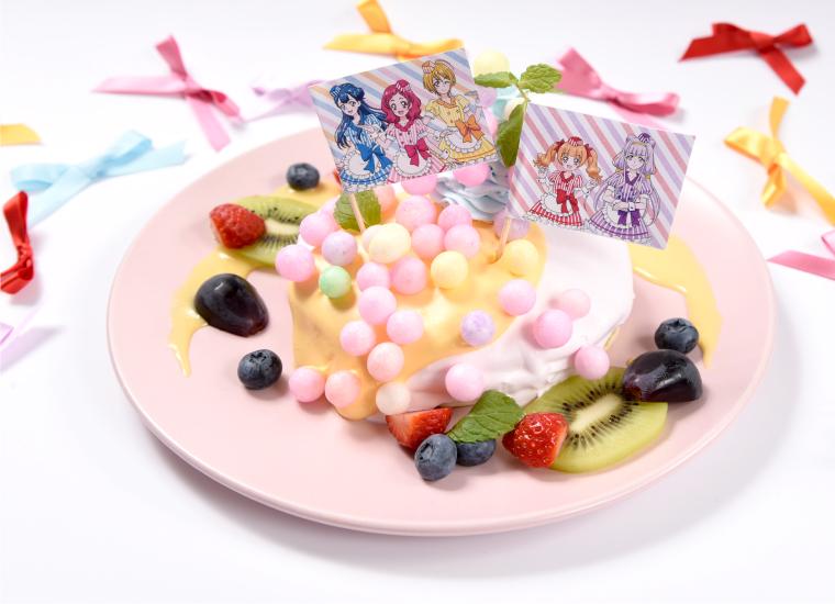 輝く未来を抱きしめて!フルーツパンケーキ!~アスパワワを添えて~