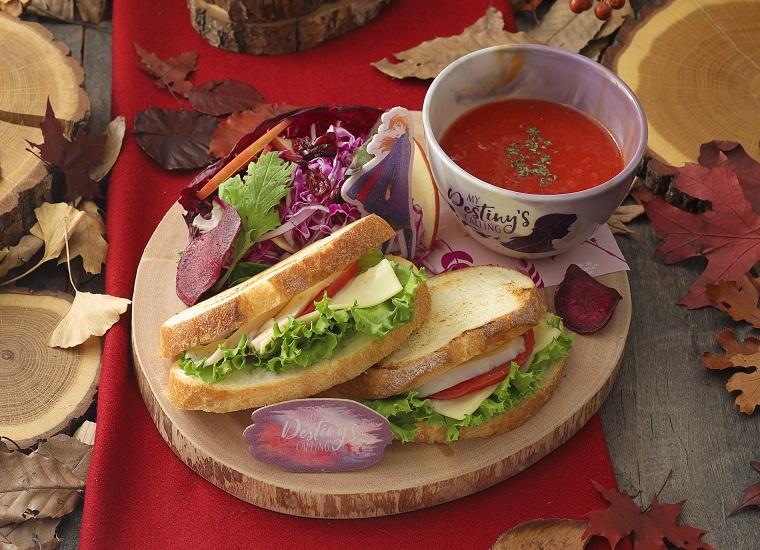 <アナ><br>欲張りサンドウィッチ&トマトスーププレート