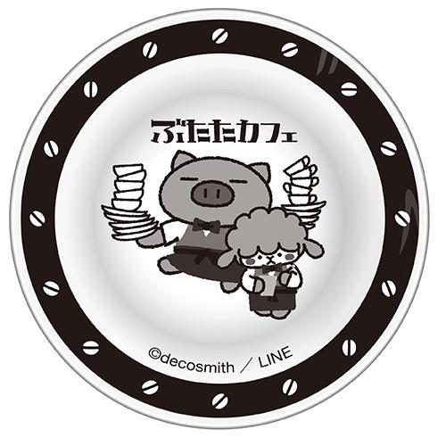 ぶたたカフェ 豆皿(ぶたた&めーた)