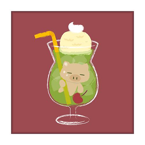 ぶたたカフェ ミニキャンバスアートB