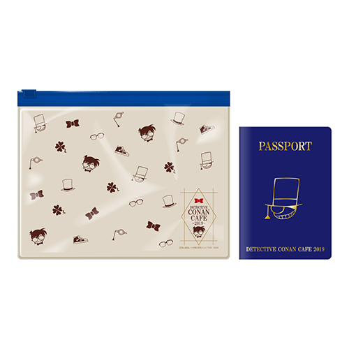 名探偵コナンカフェ2019 ケース付きパスポート風ノート(紺)