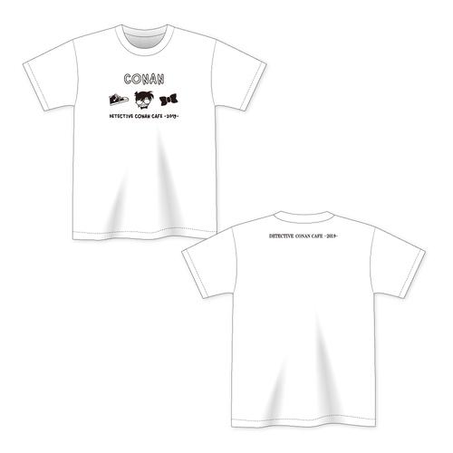 名探偵コナンカフェ2019 Tシャツ(江戸川コナン・白)