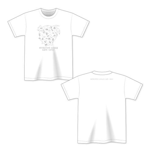 名探偵コナンカフェ2019 Tシャツ(アイコン・白)