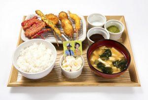 平次と和葉の大阪串揚げ定食