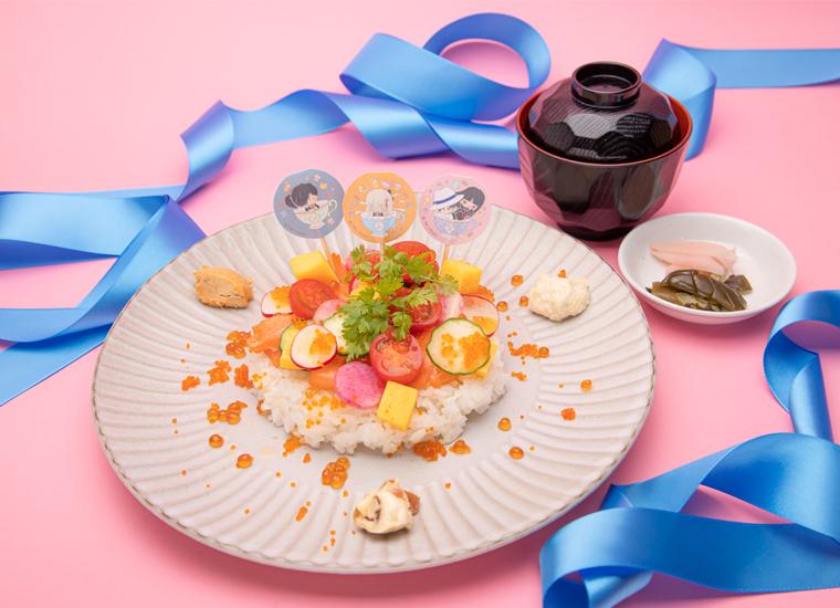 沖田(オルタ)と龍馬と以蔵のぐだぐだちらし寿司