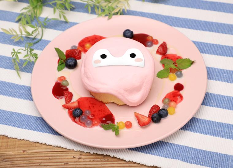 ピンクコウペンちゃんのイチゴミルクパンケーキ