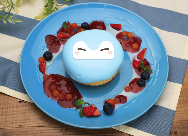 パンケーキ みずいろコウペンちゃん