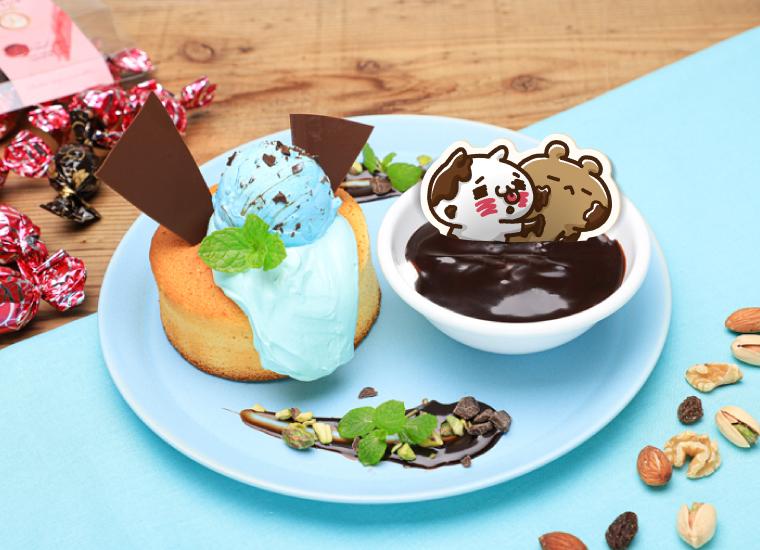 ショコラティエくまのチョコミントパンケーキ