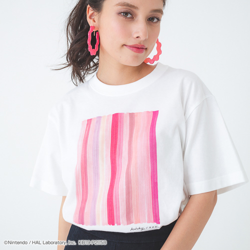 PLAYFUL KIRBY Tシャツ ver.1(PINK STRIPE)