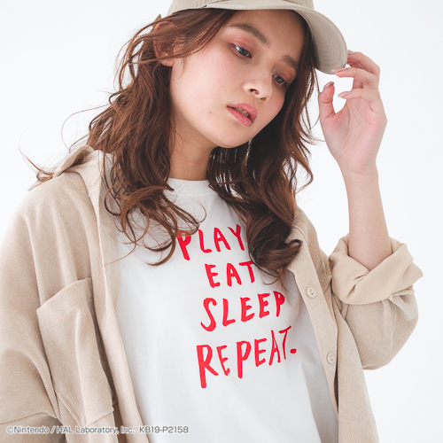 PLAYFUL KIRBY Tシャツ ver.6(PLAY EAT SLEEP REPEAT)