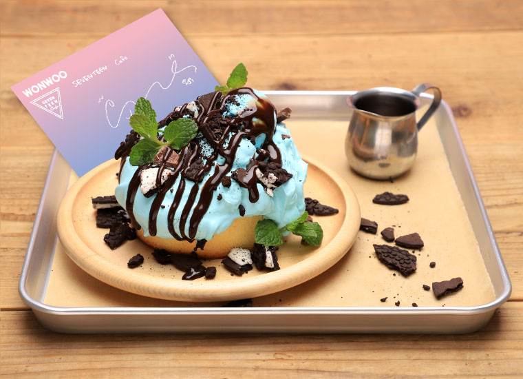 WONWOO チョコミントパンケーキ
