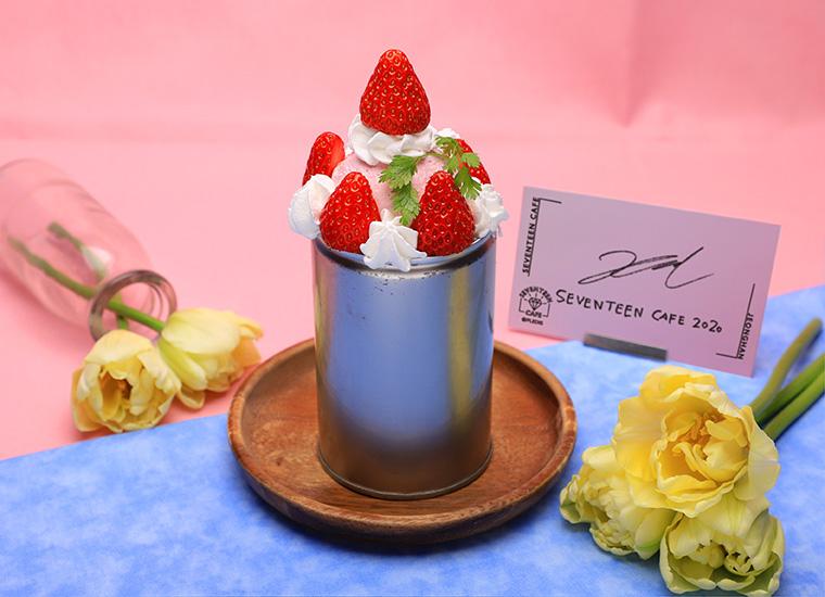 【JEONGHAN】いちごアイスクリームパフェ