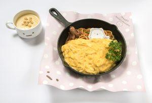 しろくまのぬくぬくたまごおふとんナポリタン&スープセット