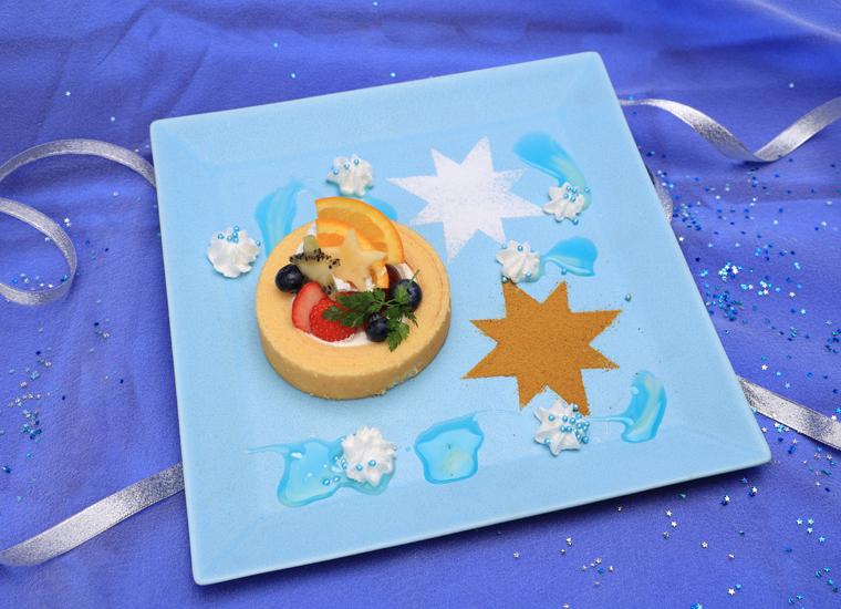 【スペシャルメニュー】星降る夜のロールケーキプレート
