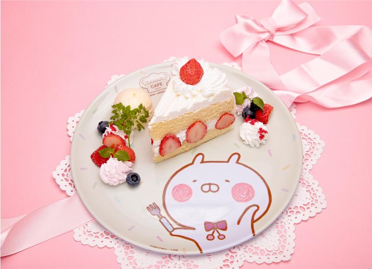 ケーキファクトリーうさまるの定番3種(ショートケーキ)