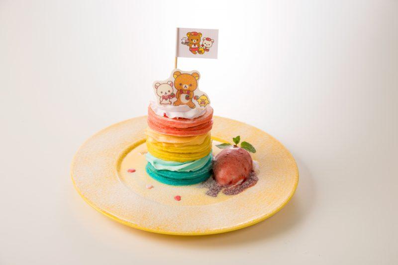 夢のレインボータワーパンケーキ