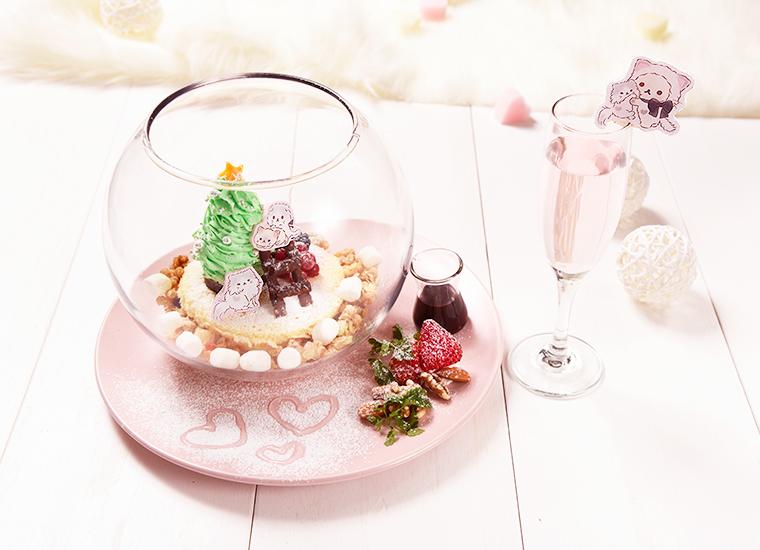 クリスマス限定♡コリラックマキャットのスノードーム~ノンアルコールロゼスパークリング付き~