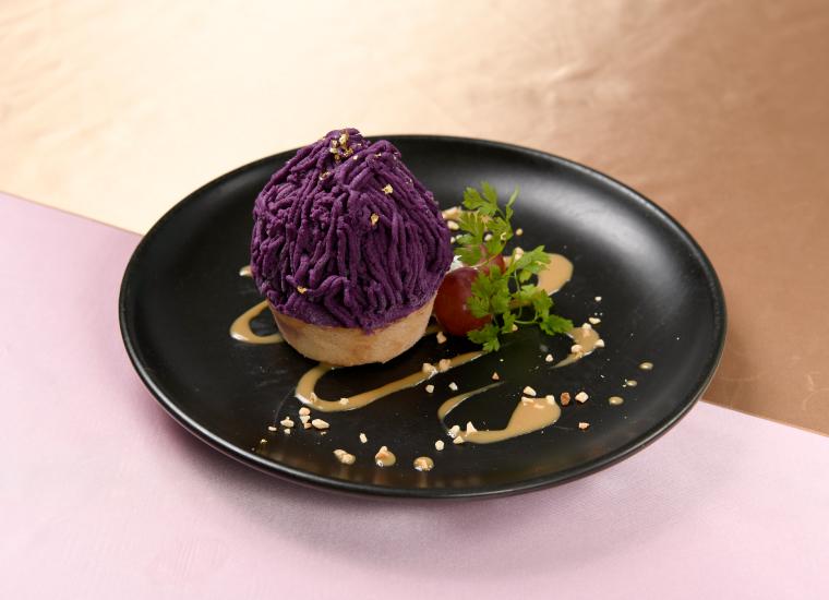 へし切長谷部の紫芋モンブラン