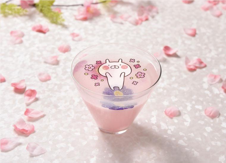 お花のゼリーとピンクの杏仁豆腐