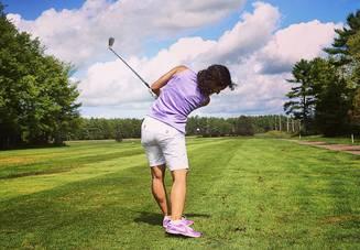 ゴルフでハーフトップ