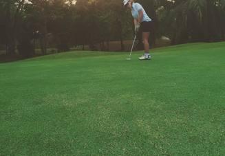 普通のゴルフの練習に