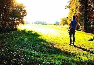 ゴルフスクールでレッ