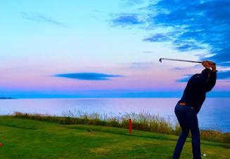 軸足が大事!ゴルフ初