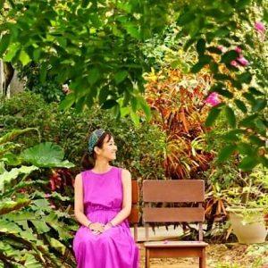 念願の宮古島で出会った、トロピカルな草花。