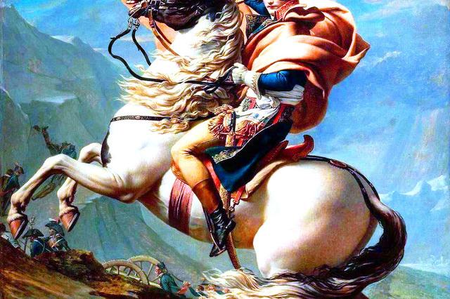 ナポレオンが乗っていたのは白馬かラバか