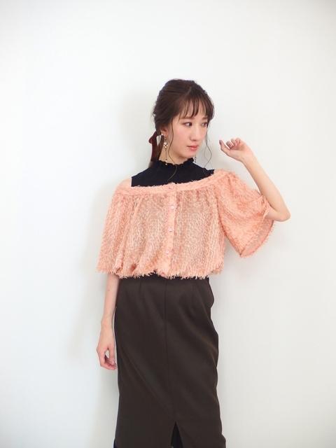 大人フェミニン系ファッション通販,30代,オフショルダーブラウス
