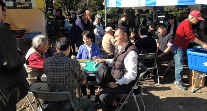 25回目の開催 渋谷の青空麻雀は今年も盛況
