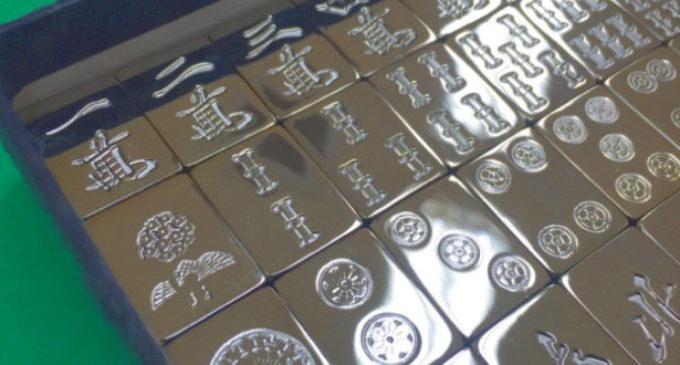 プレゼントやインテリアに!金銀の麻雀牌が発売開始