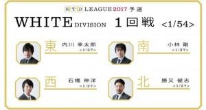 【2/2(木)21:00】RTDリーグ 2017 WHITE DIVISION 3回戦/4回戦