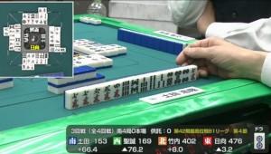 最高位戦B1リーグ 第4節、二人の本手をかわす佐藤聖誠プロの鋭い一打!