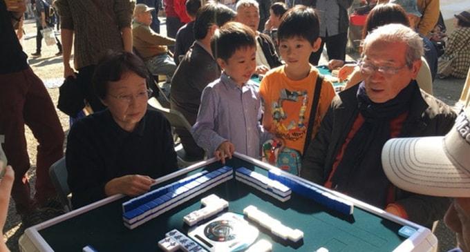 渋谷の青空麻雀は今年も盛況 売上は渋谷区社会福祉協議会へ