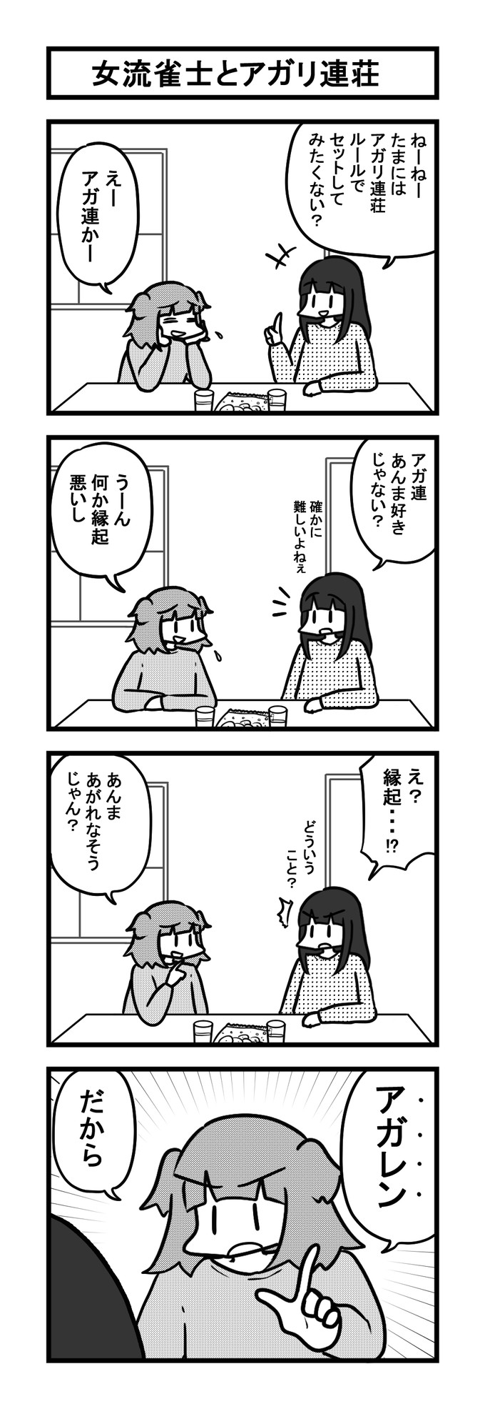 936女流雀士とアガリ連荘-min
