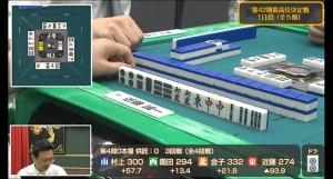 最高位決定戦注目の一局その3!金子正輝プロの状況に即した七対子!
