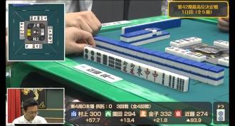 最高位決定戦注目の一局その2!近藤誠一プロのあがれる面子を見極めた一打!