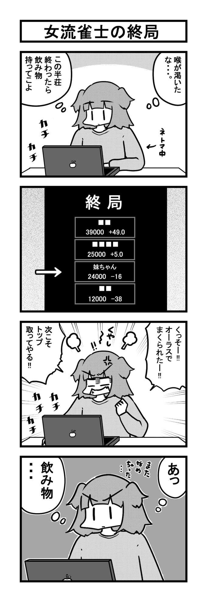 1110女流雀士の終局-min-1