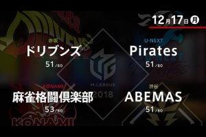 村上 VS 朝倉 VS 多井 VS 前原 今年のMリーグ最終週の幕開け!【Mリーグ 12/17】