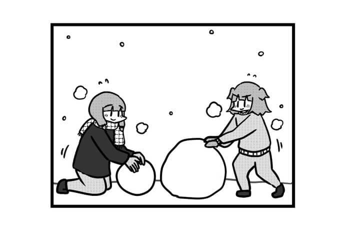 第1348話 女流雀士と雪だるま