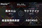 亜樹 VS 内川 VS 寿人 VS 松本 上位チームと下位チーム それぞれ負けられない戦い!【Mリーグ 11/11 第1試合メンバー】