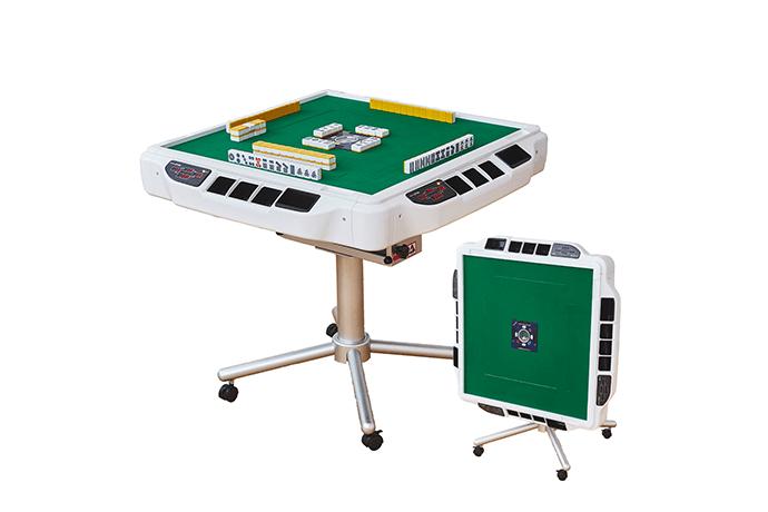 AMOS JPシリーズに待望の折り畳み脚が登場!安全設計でグラつかない全自動麻雀卓